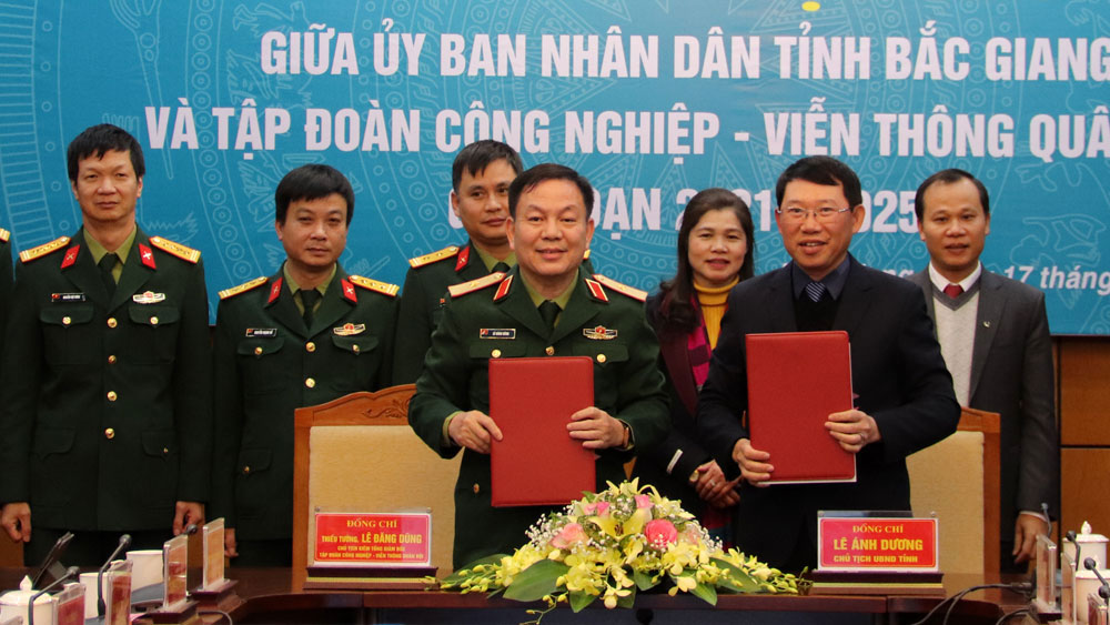 Bac Giang, Viettel, cooperation agreement, e-government, smart city building