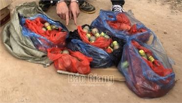 Bắc Giang: Tạm giữ hai đối tượng mua bán gần 20kg pháo nổ