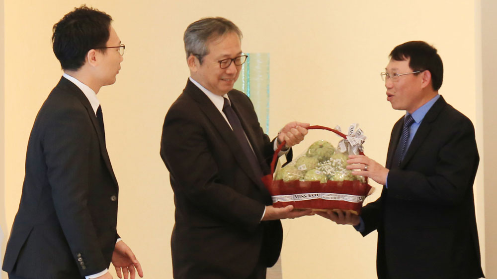 Chairman of provincial People's Committee Le Anh Duong, Japanese Embassy, Vietnam