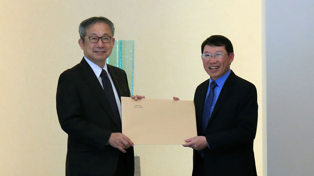 Chairman of provincial People's Committee Le Anh Duong visits Japanese Embassy in Vietnam