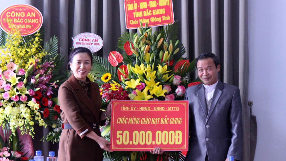 Provincial leader, Christmas greetings, Diocese of Bac Ninh