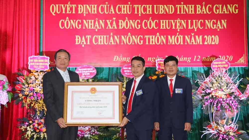 Công bố Quyết định xã Đồng Cốc đạt chuẩn nông thôn mới năm 2020