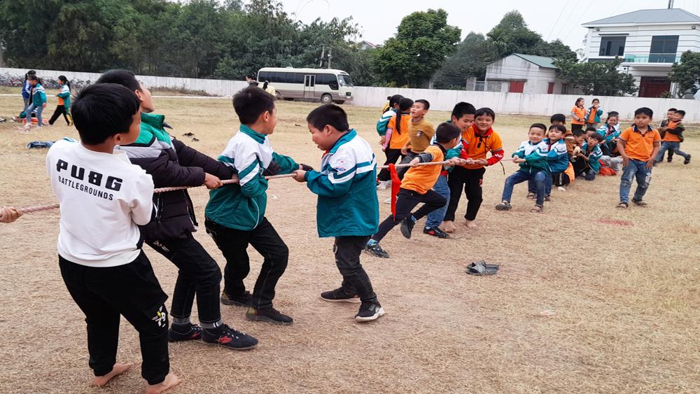 Học sinh, Ngày hội mỹ thuật-vệ sinh môi trường, Lạng Giang, Bắc Giang