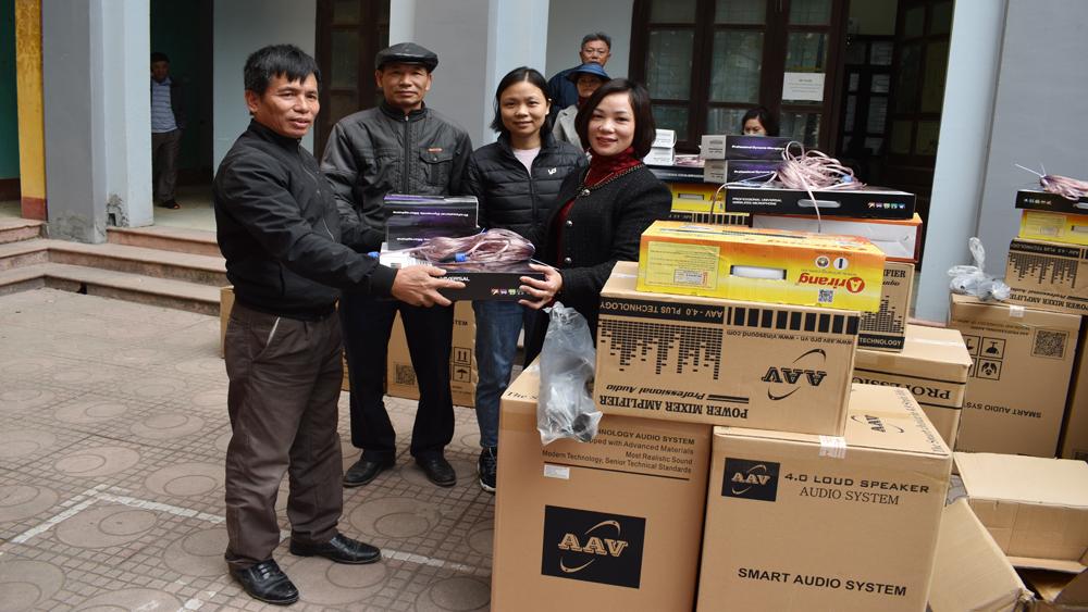Tân Yên: Bổ sung thiết bị cho 30 nhà văn hóa thôn, tổ dân phố