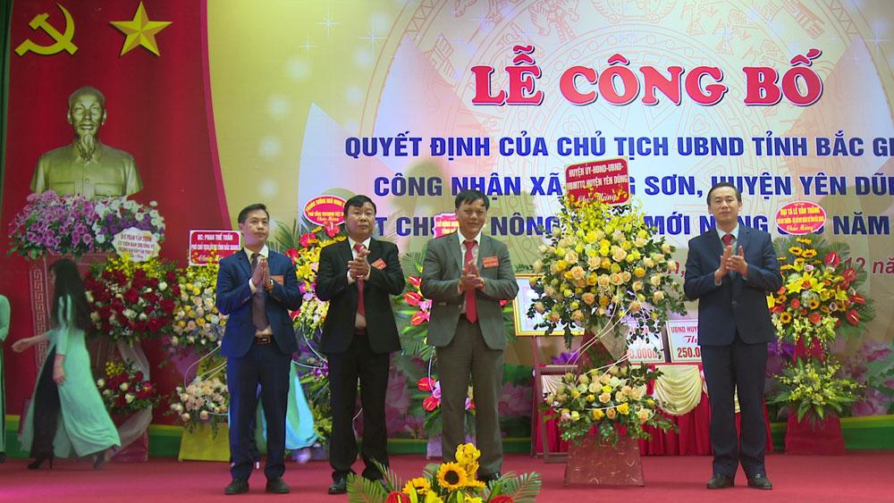 Lãng Sơn - xã đầu tiên của huyện Yên Dũng đạt chuẩn nông thôn mới nâng cao
