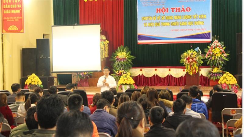 Hội thảo sử dụng năng lượng tiết kiệm và hiệu quả trong chiếu sáng học đường