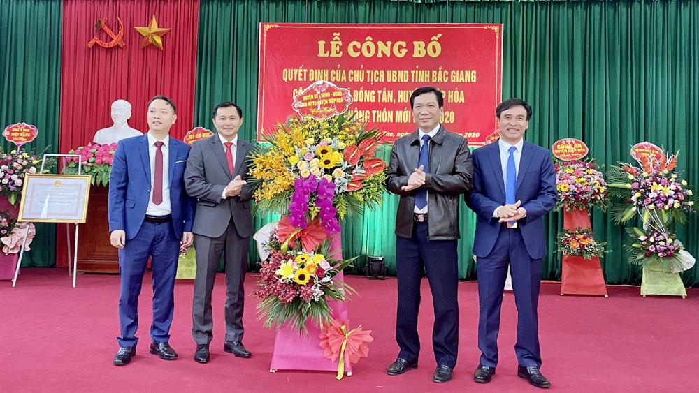 Bắc Giang: Xã Đồng Tân (Hiệp Hòa) đạt chuẩn nông thôn mới