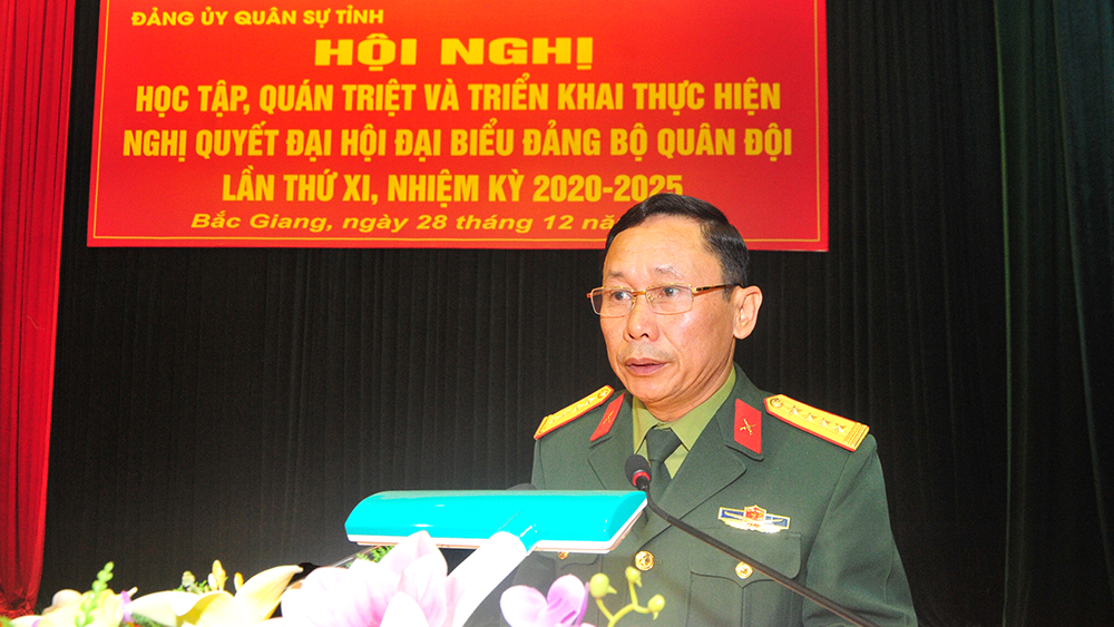 Đảng ủy Quân sự tỉnh: Quán triệt, triển khai Nghị quyết Đại hội Đảng bộ Quân đội lần thứ XI