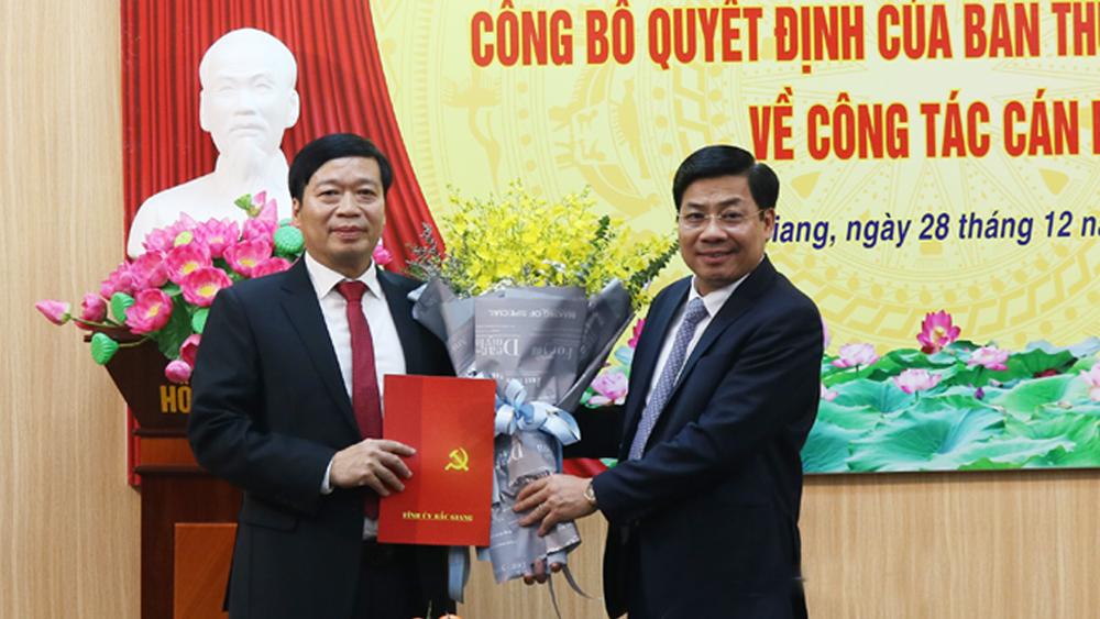 Đồng chí Vũ Mạnh Thắng giữ chức Trưởng Ban Nội chính Tỉnh ủy Bắc Giang