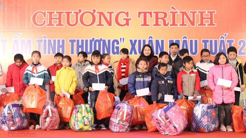 Bac Giang, to mobilize over 35,000 gifts, the poor