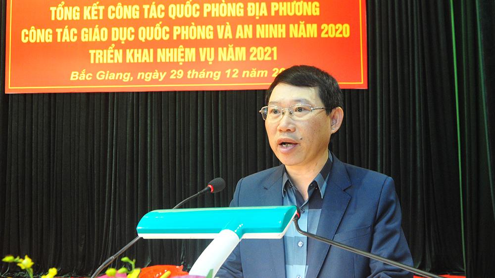 Bắc Giang: Triển khai công tác quốc phòng và an ninh năm 2021