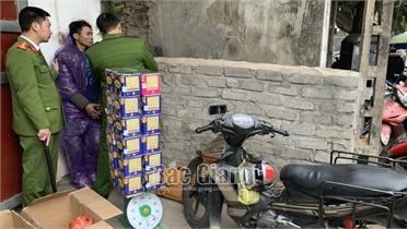 Bắc Giang: Bắt giữ đối tượng vận chuyển trái phép gần 40kg pháo