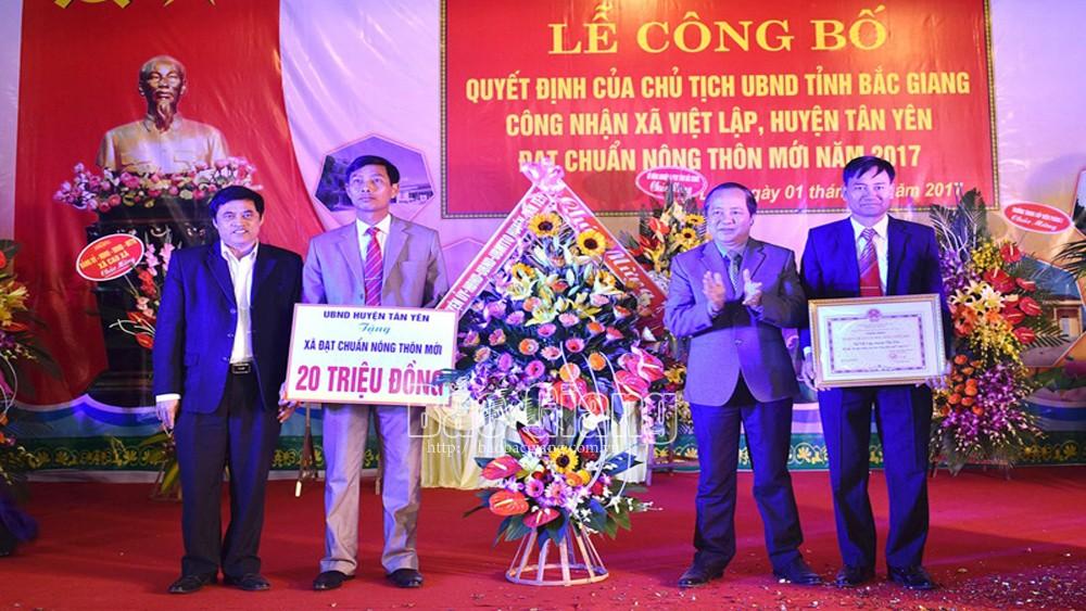 Bắc Giang: Thêm xã Việt Lập đạt chuẩn nông thôn mới nâng cao