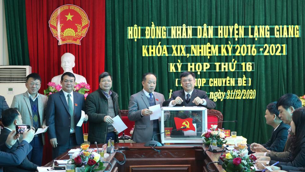 Bắc Giang, Đồng chí, được bầu, giữ chức, Phó Bí thư Huyện ủy, Chủ tịch UBND, huyện Lạng Giang, Đảng bộ