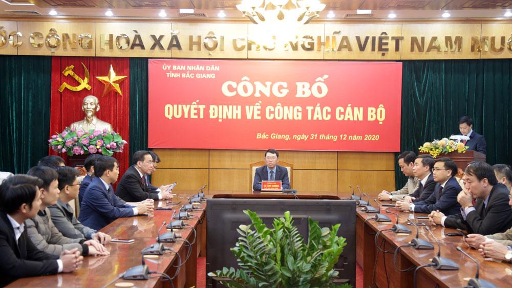 Bắc Giang, công bố, quyết định, cán bộ lãnh đạo