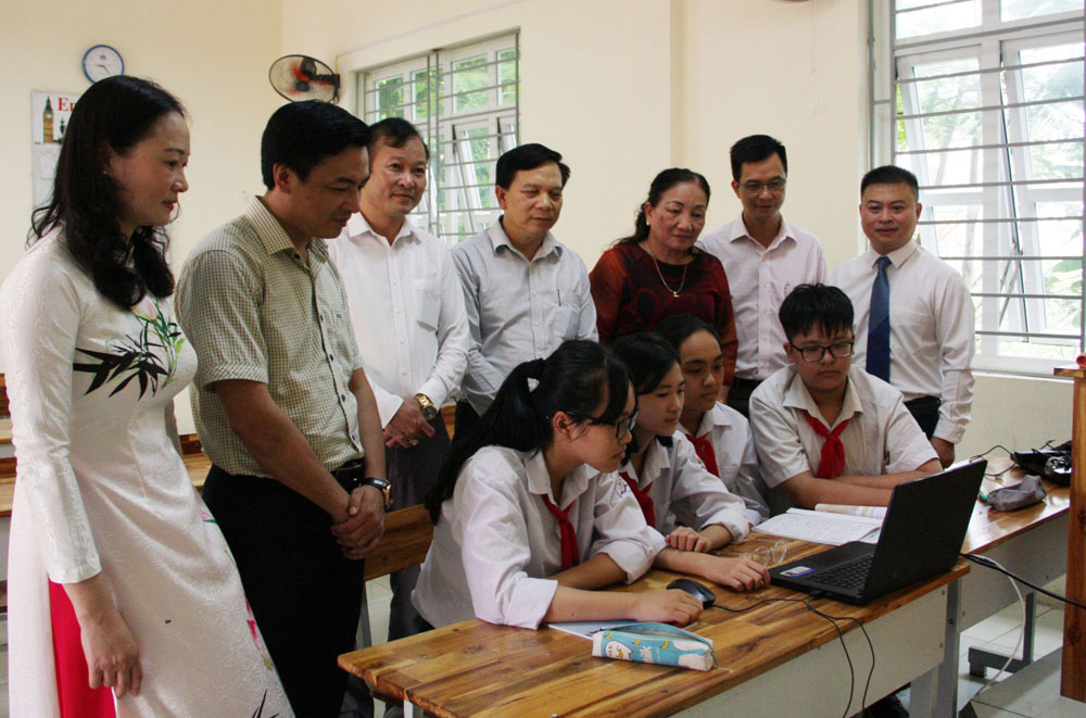 giáo dục, công nghệ thông tin, dạy, học, Bắc Giang