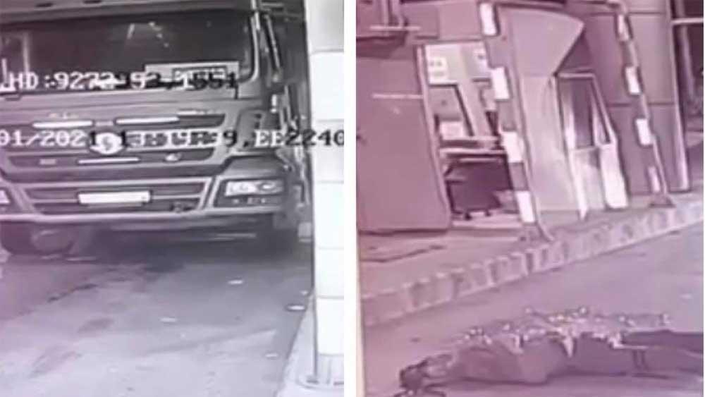 Tai nạn hy hữu: Ô tô tải không người lái cán tử vong tài xế đang kiểm tra dưới gầm xe