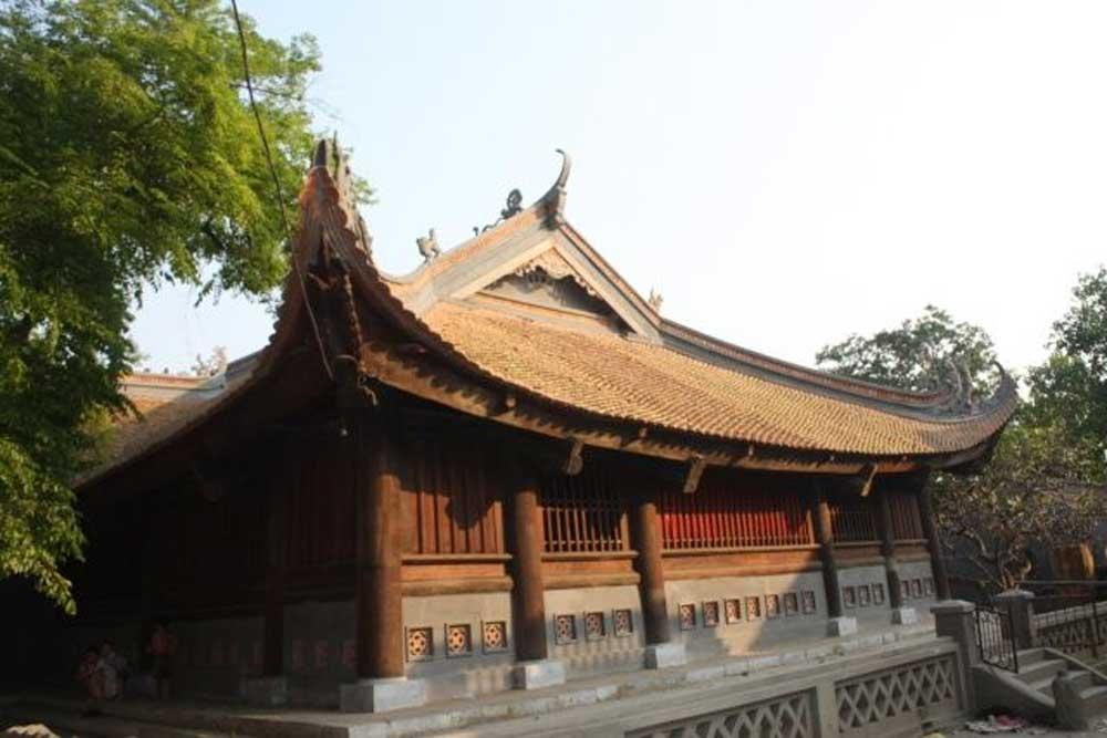 Tho Ha communal house's door, painting in fresco, national treasure