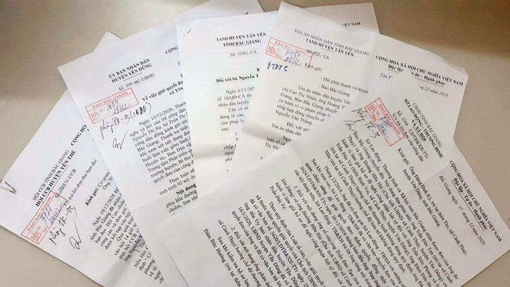 Các địa phương, đơn vị  trả lời đơn thư công dân
