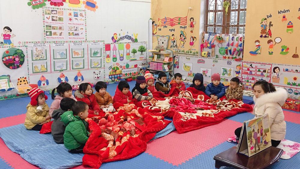 Bắc Giang: Rét đậm, rét hại, nhiều trường cho học sinh nghỉ học