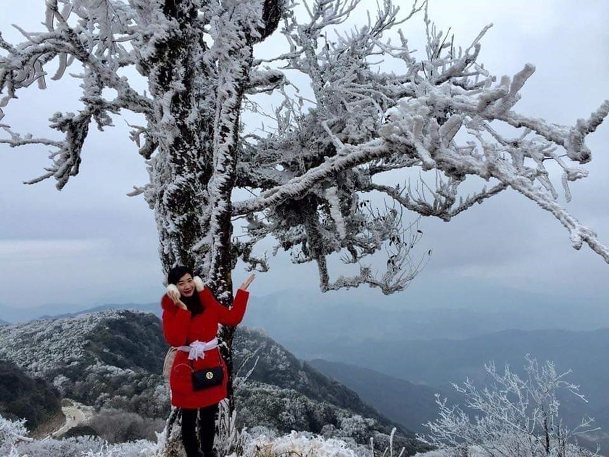 Băng tuyết, đỉnh Phia Oắc, Mẫu Sơn, Thành Công, huyện Nguyên Bình, Cao Bằng, Lộc Bình, Lạng Sơn