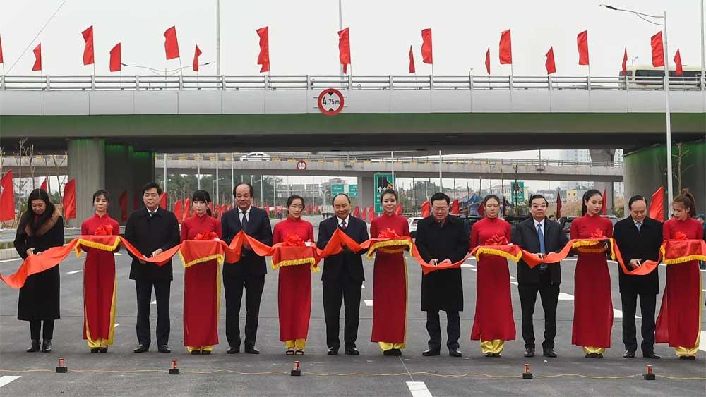 Interchange connecting Belt Road No. 3 and Hanoi-Hai Phong Expressway inaugurated