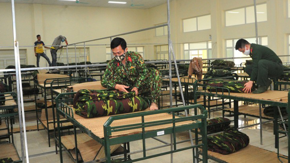 Bộ CHQS tỉnh Bắc Giang sẵn sàng đón công dân về cách ly y tế