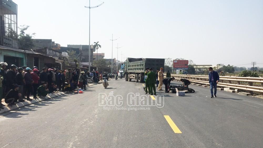 Bắc Giang, Va chạm  với ô tô, 2 nữ sinh, bị thương vong, tai nạn, công an