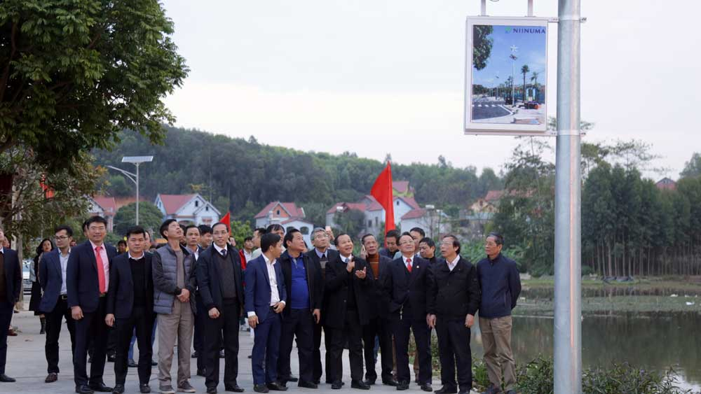 Bac Giang , solar lighting system, inauguration ceremony, Son Thinh village