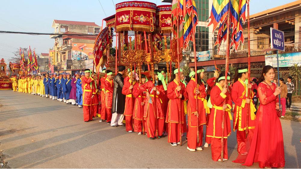 Màn rước tại lễ hội Xương Giang (ảnh tư liệu).