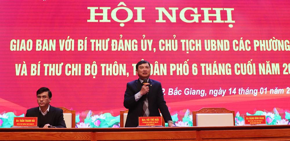TP Bắc Giang, giao ban bí thư, chi, đảng bộ, cơ sở, Bắc Giang
