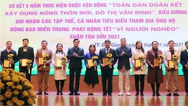 Khen thưởng 35 tập thể, cá nhân trong xây dựng nông thôn mới, đô thị văn minh
