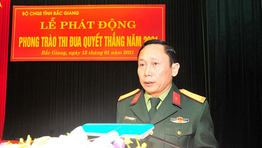 Bộ CHQS tỉnh Bắc Giang phát động phong trào thi đua quyết thắng năm 2021