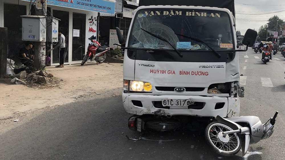 An Giang, Tài xế xe tải, ngủ gật , gây tai nạn, 6 người bị thương, tài xế Bùi Phi Long