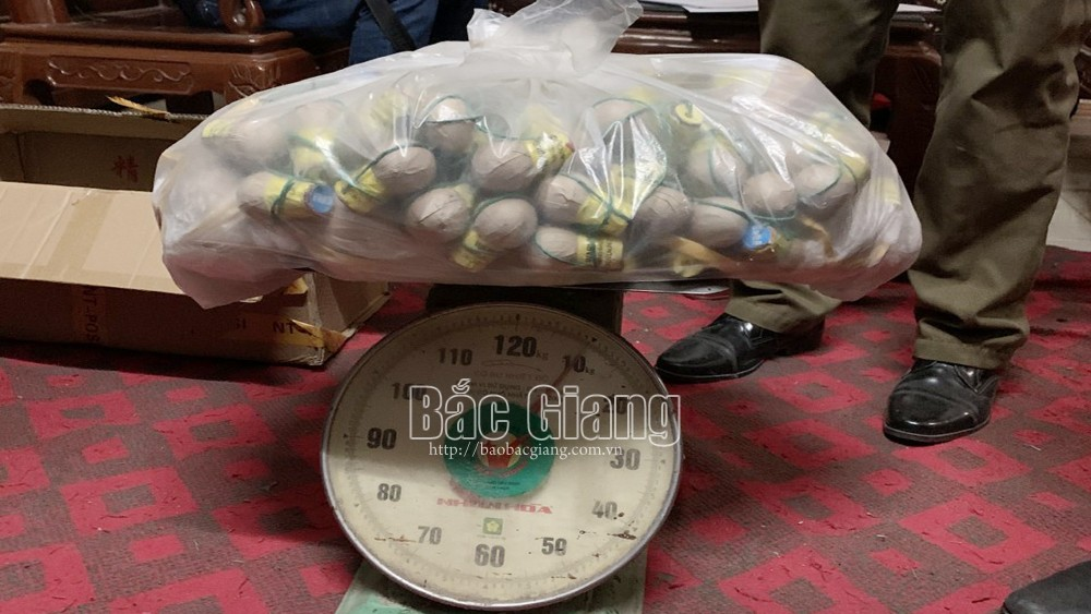 Bắc Giang: Làm rõ hai đối tượng tàng trữ trái phép 27kg pháo nổ