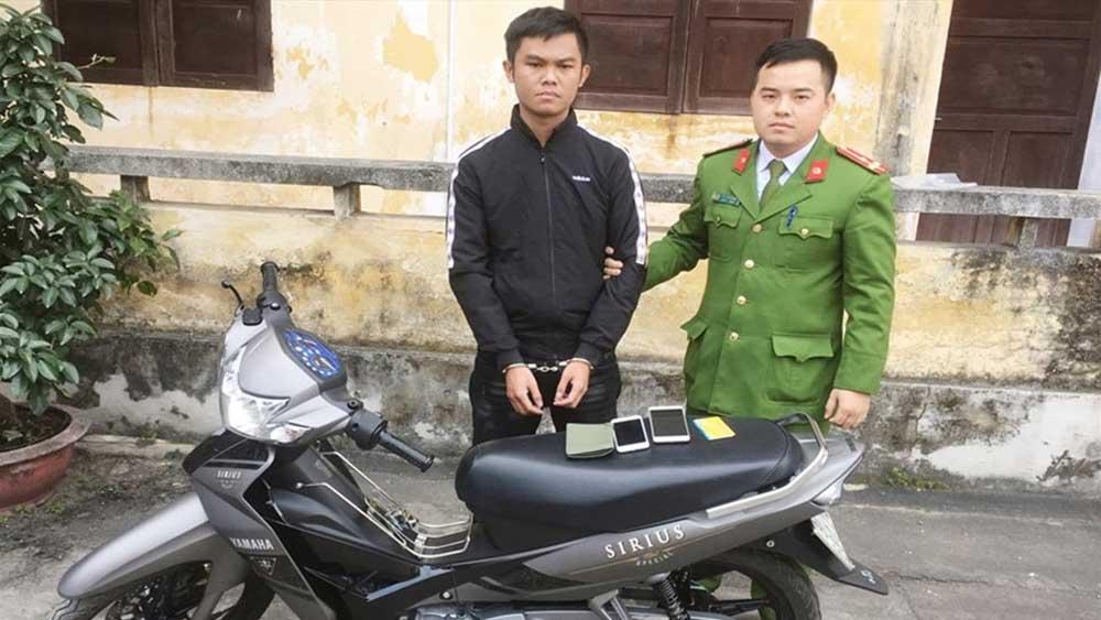 Bắt đối tượng, chuyên lừa đảo ,bán điện thoại xịn, không giao hàng, Hoàng Minh Thông