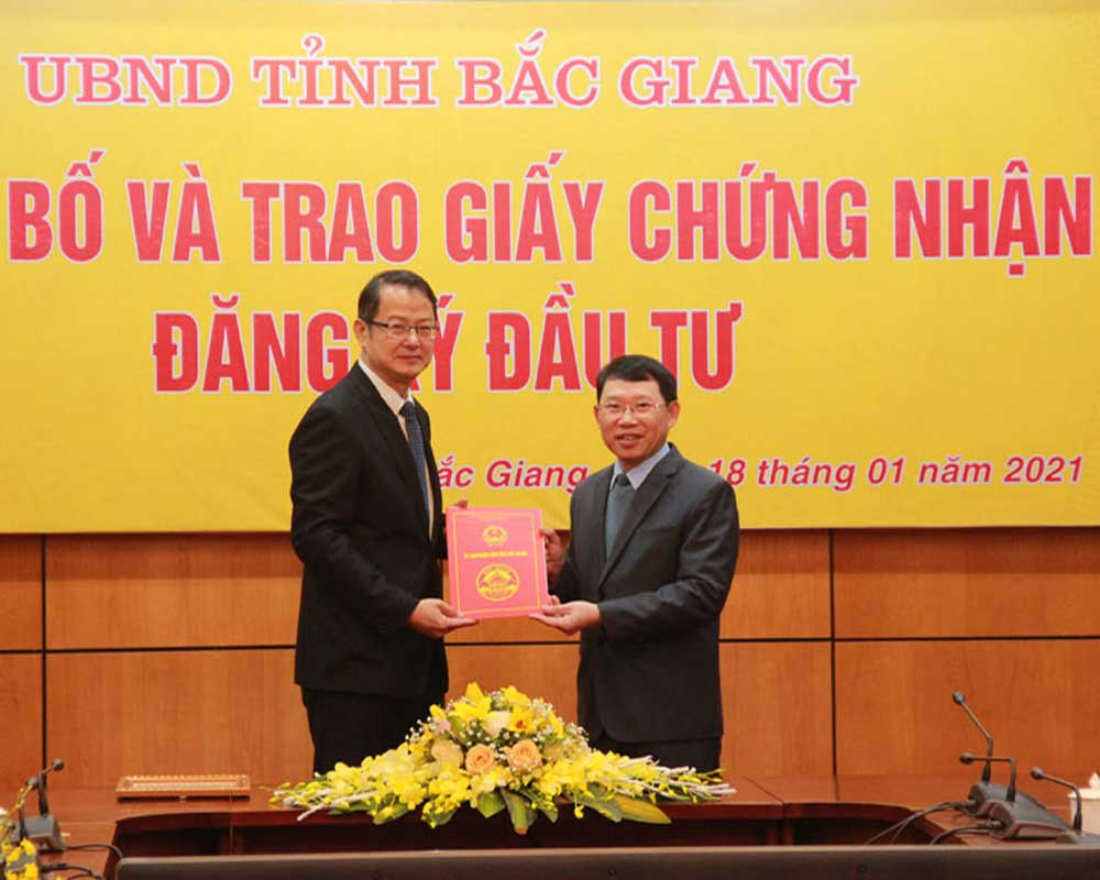 Bac Giang, licences , four FDI projects