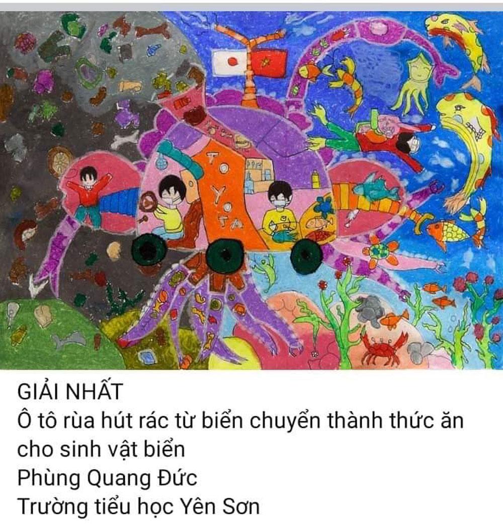giáo dục, Bắc Giang, Toyota, vẽ tranh, chiếc ô tô mơ ước.