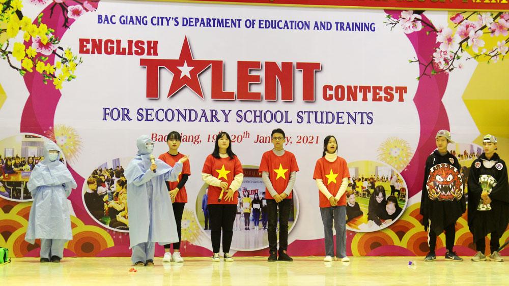 TP Bắc Giang: Sôi nổi Hội thi tài năng tiếng Anh