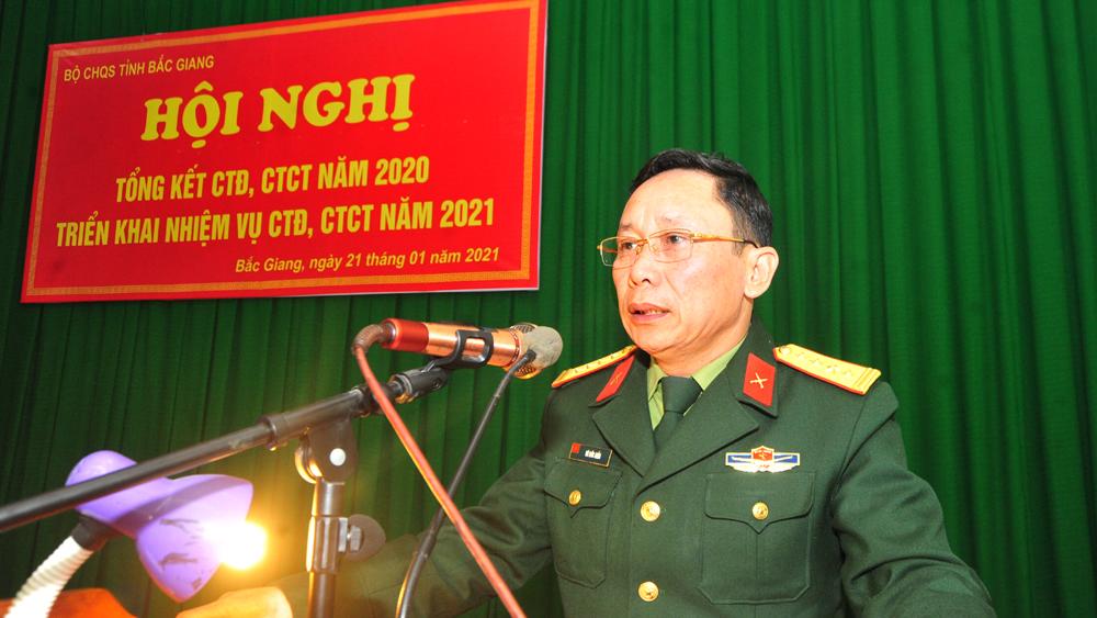 Tiếp tục xây dựng lực lượng vũ trang tỉnh vững mạnh về chính trị