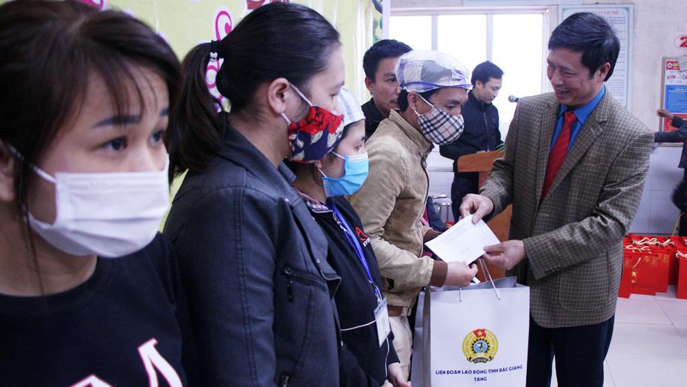 Bắc Giang, công nhân, tặng quà Tết, Liên đoàn Lao động, ông Nguyễn Văn Cảnh.