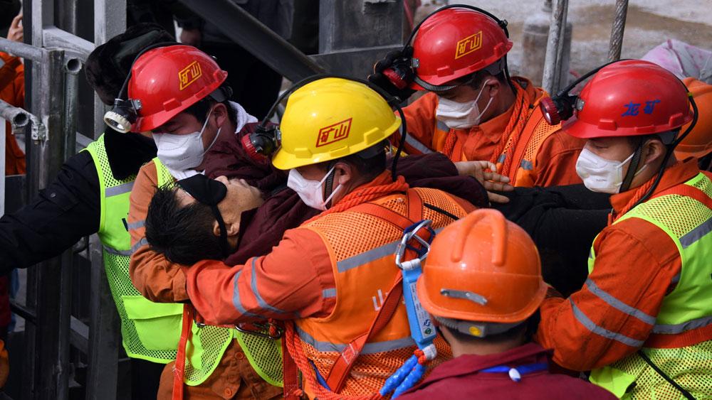 Vụ sập mỏ vàng tại Trung Quốc: Đã giải cứu 11 trong số 22 thợ mỏ