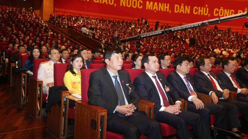 Đoàn đại biểu tỉnh Bắc Giang dự Đại hội. Ảnh Quốc Trường.