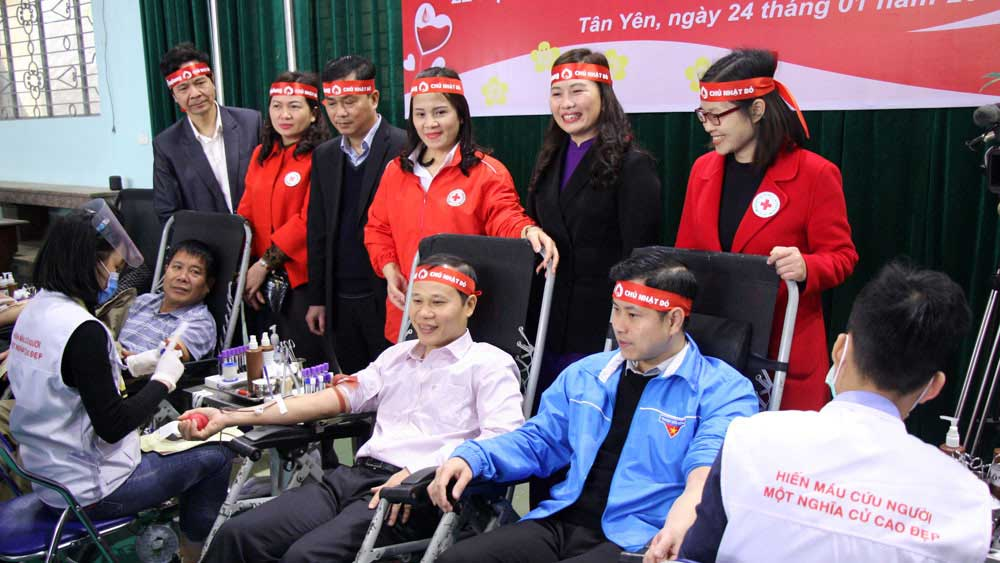Red Spring Festival, Bac Giang, voluntary blood donation