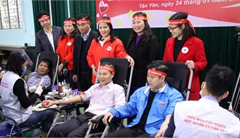 Red Spring Festival in Bac Giang: Guaranteeing blood reserve to save people