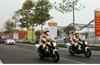 Công tác dẫn đoàn, phân luồng giao thông được bảo đảm trong ngày đầu Đại hội