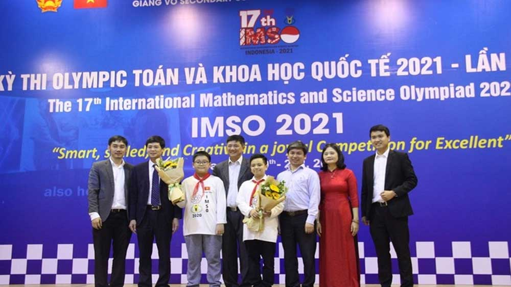 Vietnam students, math-science Olympiad medal haul,