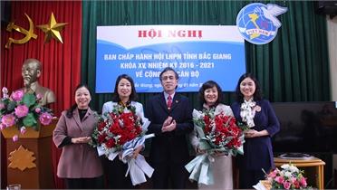 Bắc Giang: Đồng chí Vũ Thị An và Nguyễn Thị Hồng Tâm được bầu làm Phó Chủ tịch Hội LHPN tỉnh