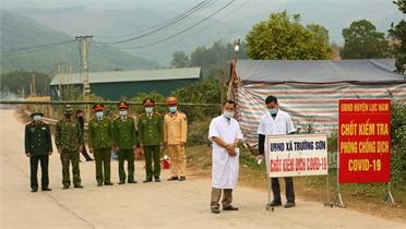Lục Nam: Các tổ, chốt kiểm soát căng mình phòng dịch Covid-19