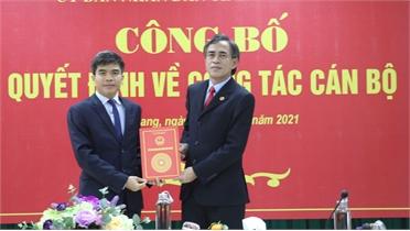 Bắc Giang: Công bố quyết định về công tác cán bộ